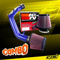 01-05 Vw Jetta 1.8t 1.8l 4cyl Blue Cold Air Intake + K&n Air Filter