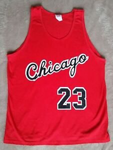 uk availability 642bf f8e41 Details about Chicago Bulls Michael Jordan Rookie year vtg style Jersey  Tank top / t-shirt