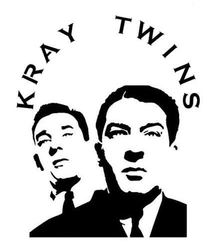 high detail airbrush stencil krays twins  FREE UK POST