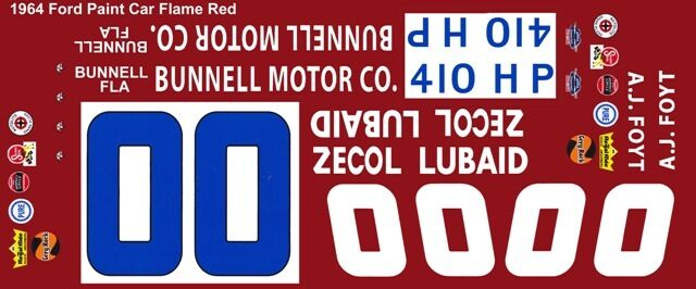 #47 Curtis Turner National 500 Charlotte 1//32nd Scale Slot Car Decals