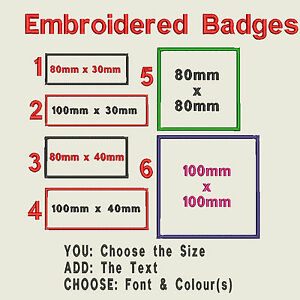 Embroidered-Rectangle-Felt-Personalised-Badge-Patch-Text-Colour-Iron-or-Sew-On