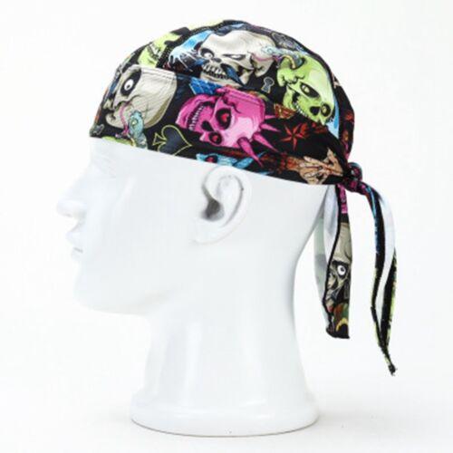 Do Head Du Skull Cap Paisley Bandana Motorcycle Black Doo Wrap Rag Biker
