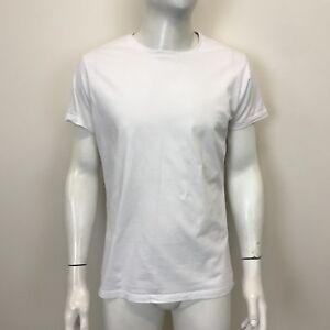 6474247f Cedarwood State Mens White Basic Short Sleeved Slim Fit T-Shirt Top ...