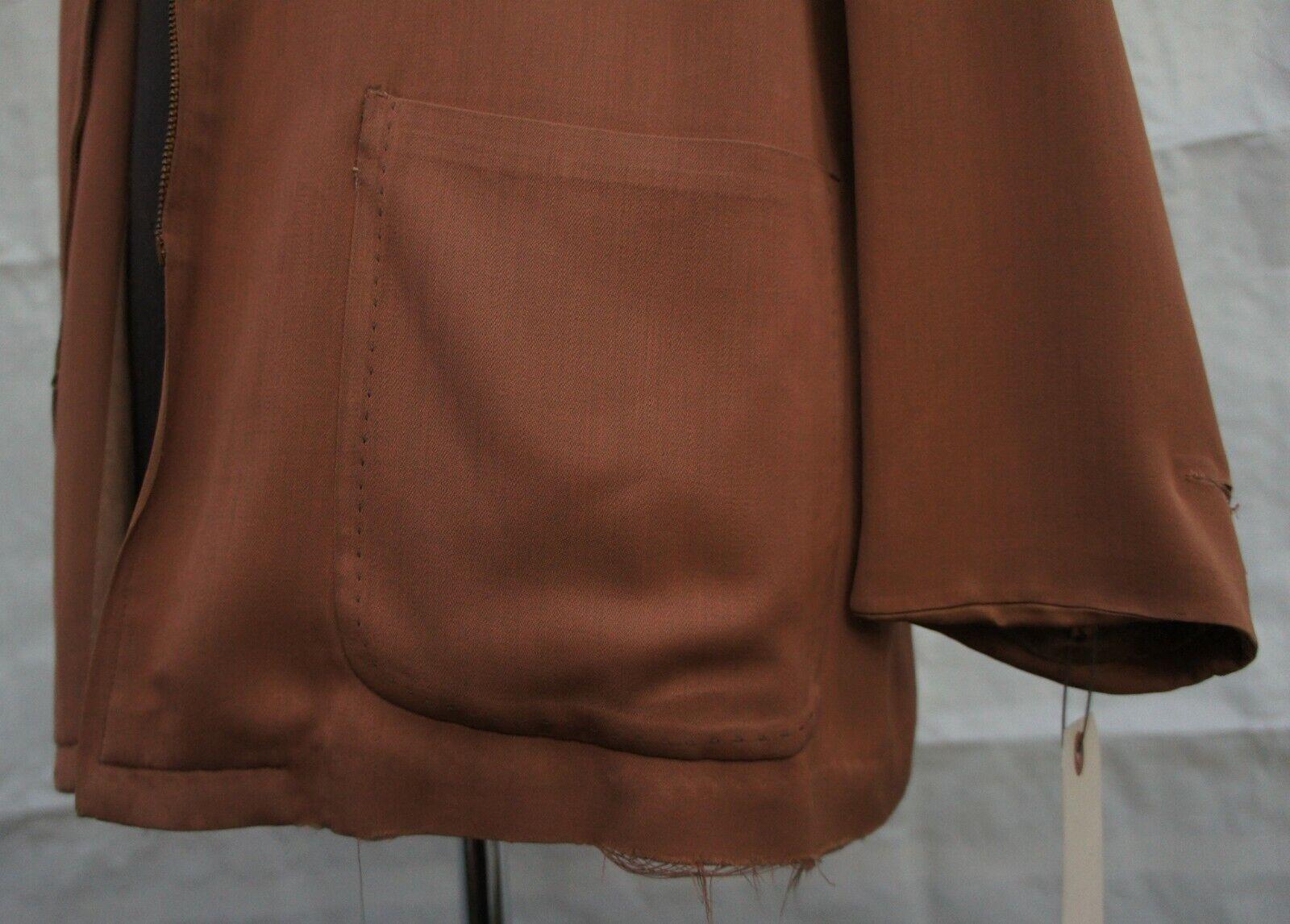 Vintage 30s 40s 50s Mens Brown Casual Zipper Jack… - image 8