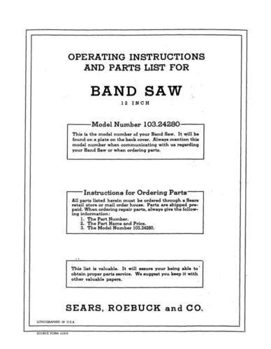 1952 Craftsman 103.24280 12