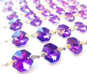 1-Yard-Metallic-Violet-Purple-Chandelier-Crystals-Garland-Prisms