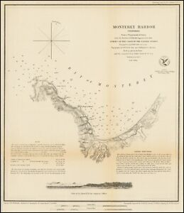 1852-US-Coast-Survey-034-Monterey-Harbor-California-034-Original-electrotype