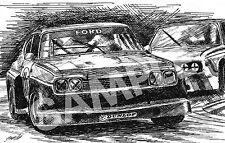 Ford Capri RS3100 Illustration Art Drawing Print