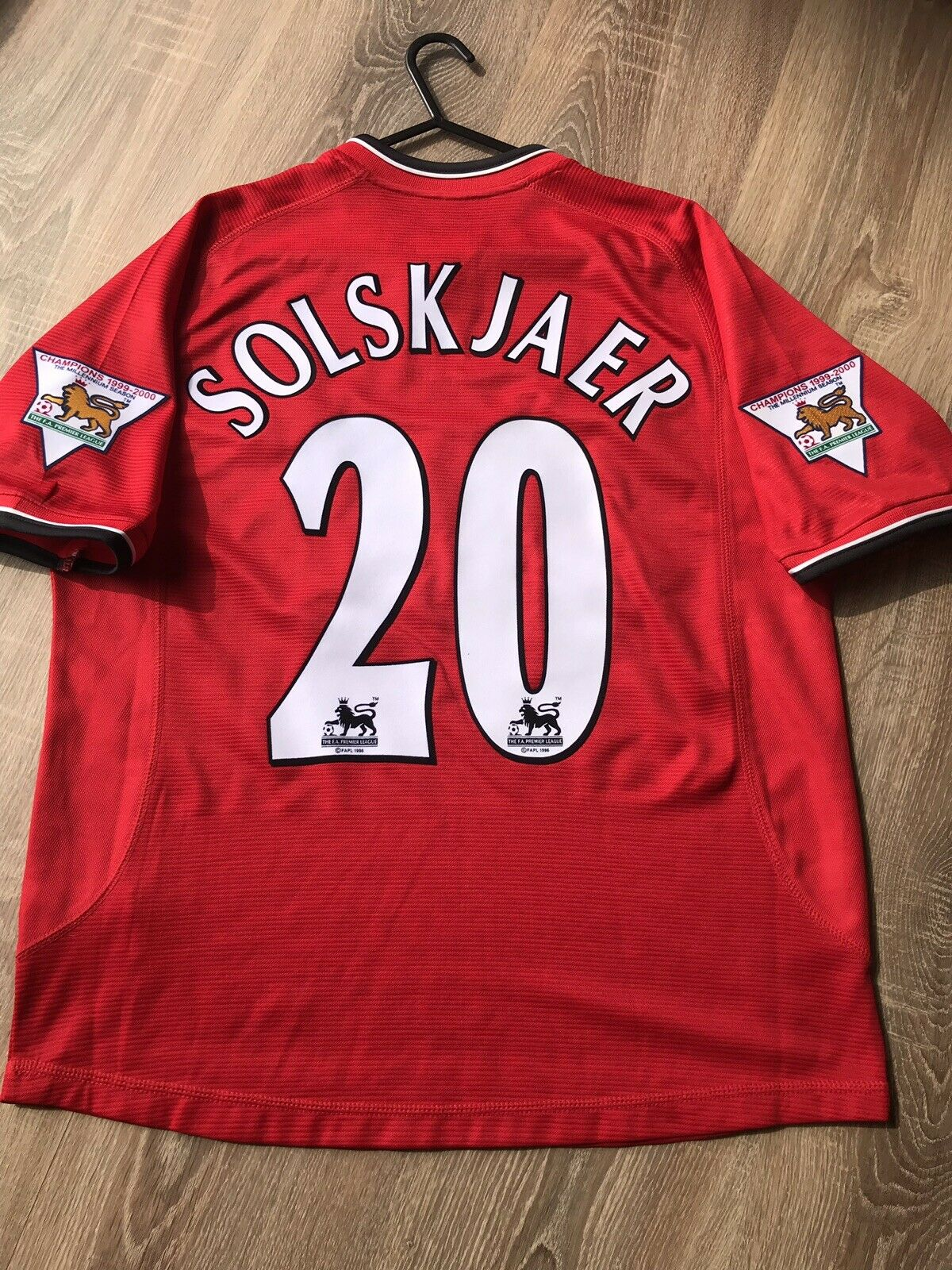 Manchester United Vintage 200002 maglietta adulti S 20 Solskjaer