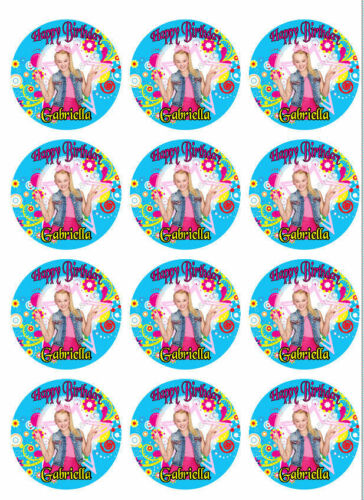 JoJo Siwa Personalized Edible Print Premium Cake Topper Frosting Sheets 5 Sizes