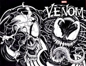 MARVEL-Comics-VENOM-Original-Art-Sketch-Wrap-Around-Cover-Ken-Haeser-SPIDER-MAN