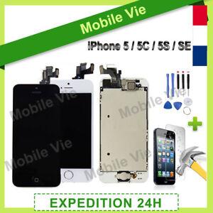 VITRE TACTILE + ECRAN LCD RETINA COMPLET IPHONE 5/5C/5S/SE NOIR OU BLANC +OUTILS