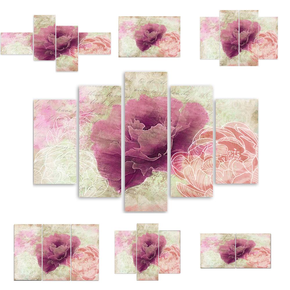 Top Toile Image Images (54 variantes) Modern Art Fleurs Rose 2564