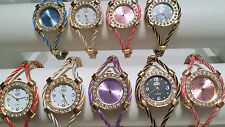 Joblot of 18 Mixed colour Wire Cable Diamante Watches new wholesale - lot Q