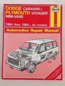 haynes dodge caravan plymouth voyager mini vans automotive repair rh ebay com plymouth voyager rear facing seat plymouth voyager parts liftgate latch