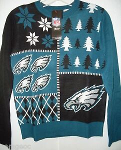 official photos 80ddd 24fa1 Details about NFL Philadelphia Eagles Youth Busy Block Ugly Sweater Size  Youth Large by FOCO