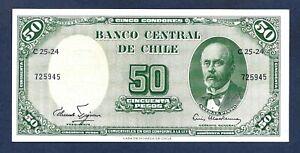 (DN) Chile 50 Pesos/5 Centesimos de Escudo 1960 P-126b SC UNC