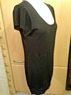 """Frank """"yes Of No"""" Damen Trikotage Kleid Gr.l.38.schwarz Mit Silbrigfaden Attraktive Designs; Kleidung & Accessoires"""