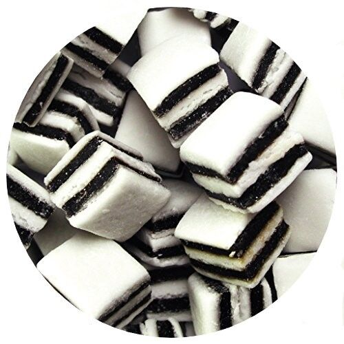 Black And White Liquorice Mints Pick n Mix RETRO SWEETS 200g-1.5 kg  EASTER SALE