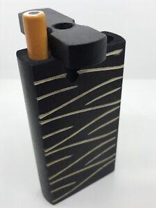 """HITTER BOX USA DUGOUT 1 HIT 4/"""" WOODEN 3"""" METAL ONE BAT POCKET 1 TOBACCO SMOKING"""