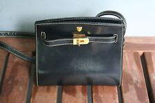 Bally Handtasche Leder Elegant schwarz klein       -Neuwertig-