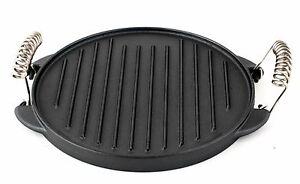 gusseisen runde grillplatte grillaufsatz 25cm platte guss f r gaskocher gasgrill ebay. Black Bedroom Furniture Sets. Home Design Ideas
