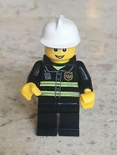 LEGO Minifigure:  Fire - Reflective Stripes, Black Legs (cty056), 2010