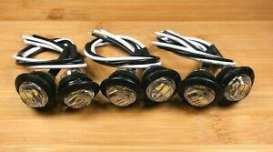 6 BBT 12 volt Waterproof Snap-In Blue LED Courtesy Lights