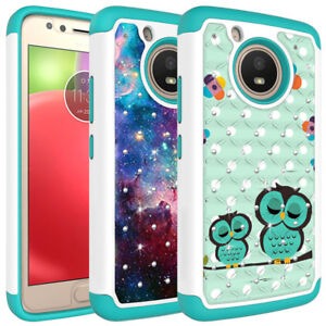online store 95565 09217 Details about For Motorola MOTO E4 Case, Diamond Bling Hybrid Shockproof  Protective Cover