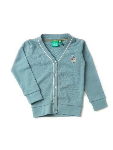 Little Green Radicals Organic Pointelle Cardigan  0 3 6 9  Blue Pink grey
