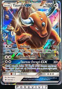 Carte-Pokemon-TAUROS-100-149-Holo-GX-Soleil-et-Lune-1-SL1-FR-NEUF