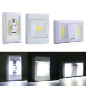 Magnetic Cob Led Wall Switch Light Battery Operated Wireless Night Lighting Dim Ebay