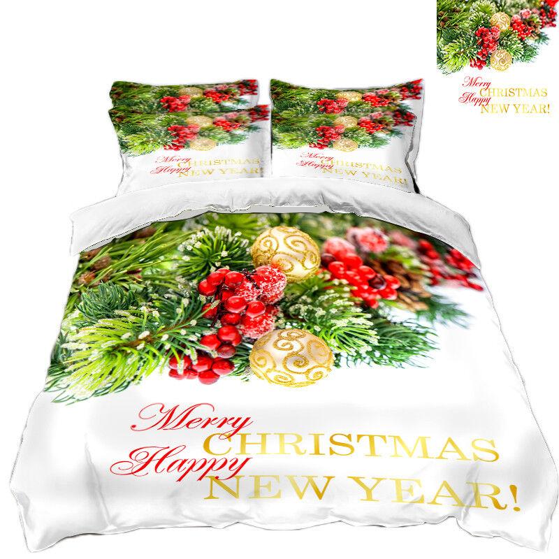 3D Christmas Xmas 734 Bett Pillowcases Quilt Duvet Startseite Set Single Königin AU