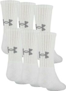 Under Armour Youth Training Cotton No Show Socks 6-Pairs