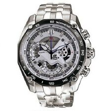 CASIO EDIFICE CHRONOGRAPH EF-550RB-7A WHITE DIAL STAINLESS  STEEL CASE BRACELET