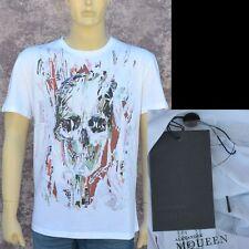 Alexander McQueen New sz L Authentic Designer Mens Skull T-Shirt T Shirt