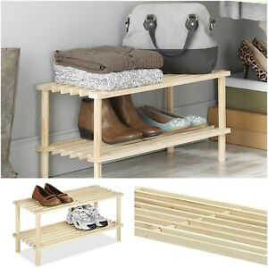 Image Is Loading 2 Tier Shelves Shoe Storage Organizer Household Wood