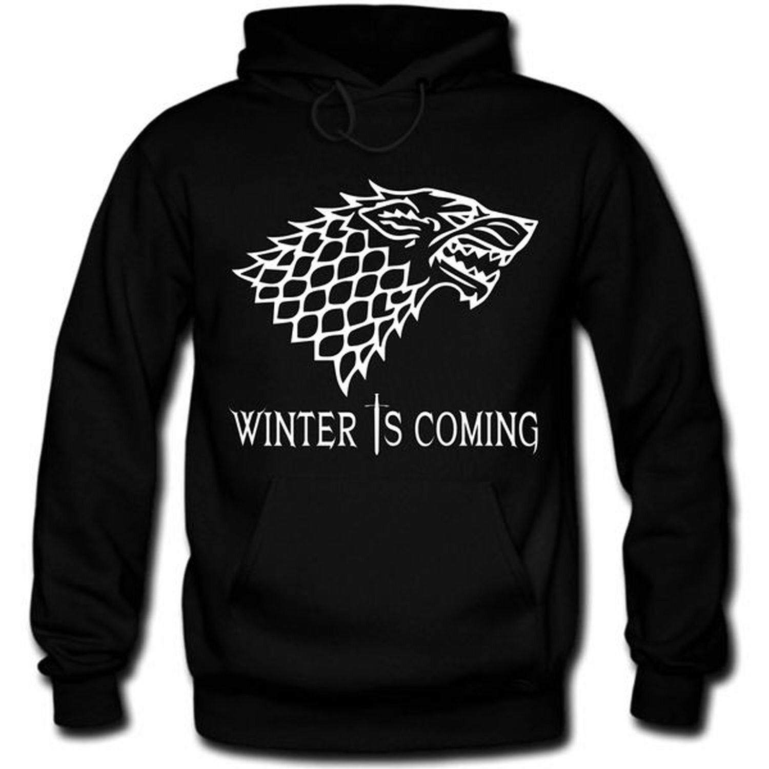 Herren Hoodie Kapuzenpulli Games Winter Is Coming Thrones S-3XL TOP QUALITÄT | Guter Markt