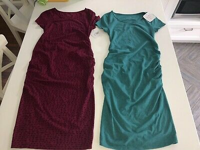 Lot Bundle 2 Isabel Maternity Dresses By Ingrid Isabel Size S New Aqua Pink Ebay