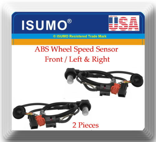 2 X ABS Wheel Speed Sensor Front Left /& Right Fits Audi A6 A6 Quattro 1999-2003