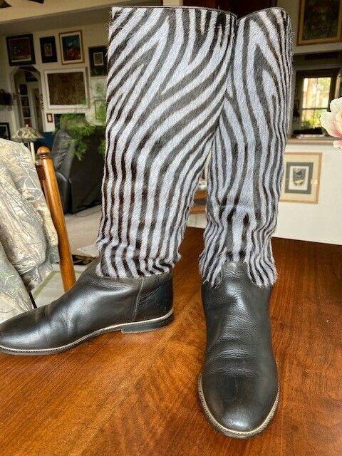 Vintage Maud Frizon Zebra Design Boots - image 3