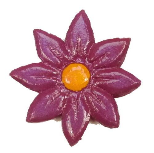 Mosaiksteine Farbe: pflaume//gelb -3 Grössen-handgefertigt Blüten Blumen
