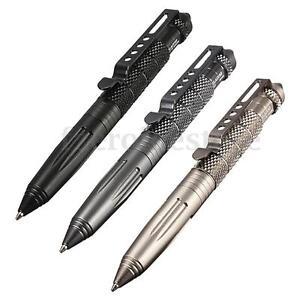 Self-Defense-Tactical-Pen-Glass-Breaker-Aluminio-Tactico-Boligrafo-Pluma-Defensa