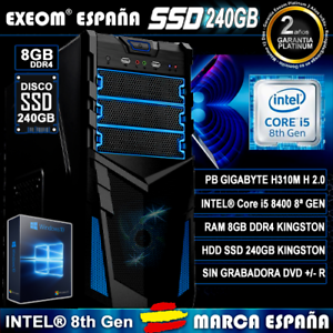 Ordenador-Pc-Gaming-Intel-Core-i5-8400-6xCORES-8GB-DDR4-SSD-240GB-HDMI-Sobremesa
