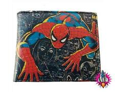 OFFICIAL MARVEL SPIDERMAN  COMIC STRIP PRINT MENS BOYS WALLET NEW IN GIFT TIN