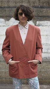 Femmes Jacket Veste Veste De Sport Blazer 90er True Vintage 90 S Women's Jacket Brun Rouge-afficher Le Titre D'origine