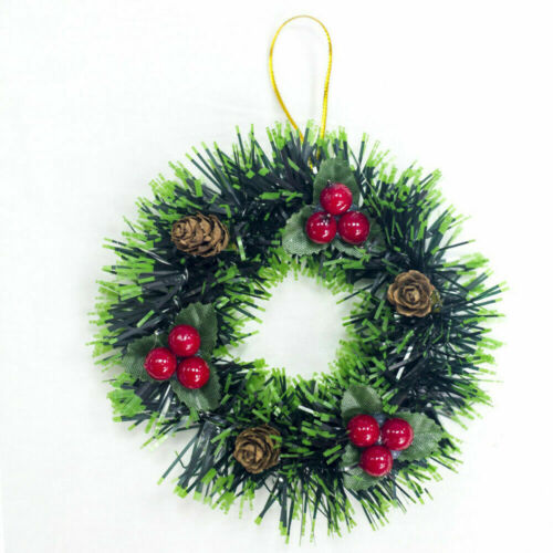 Christmas Wreath Xmas Party Door Wall Hanging Garland Home Ornament Decorating