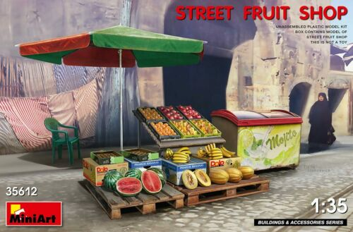Street fruit shop//stand//stall 1:35 MiniArt 35612