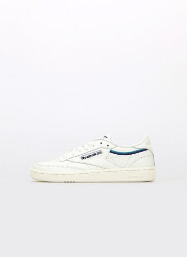 Reebok Club C 85 W Damen Sneaker Turnschuhe Schuhe Beige Weiß Blau NEU EF3487
