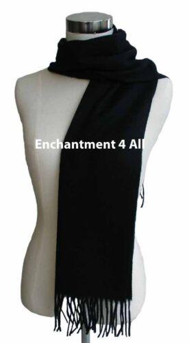 "New 70/"" Classic 100/% 2-Ply Pure Cashmere Scarf Neck Muffler Men Women Black"
